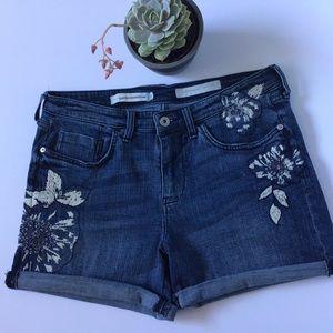 Pilcro and the Letterpress Slim Boyfriend Shorts